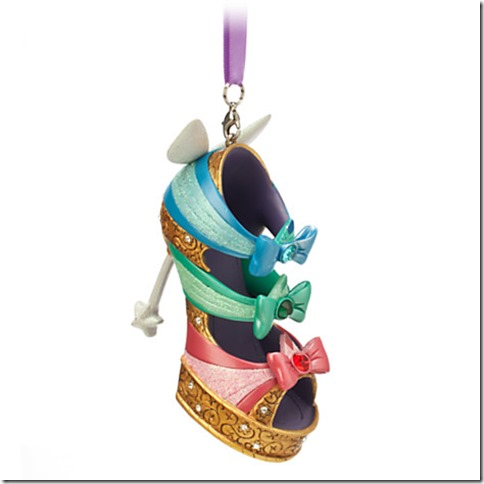 Disney Runway Shoe Ornaments - Fashion For Your Christmas Tree!