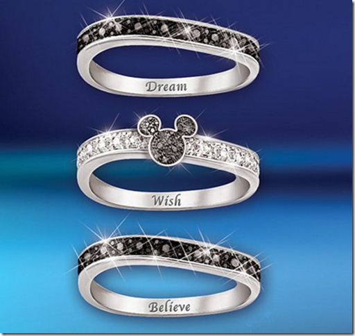 Hidden Bands: Disney Discovery- Mickey Hidden Message 3 Band Ring