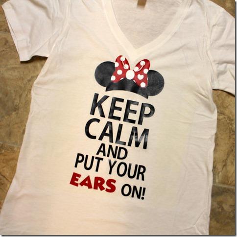 keep calm and put your ears on tee shirt