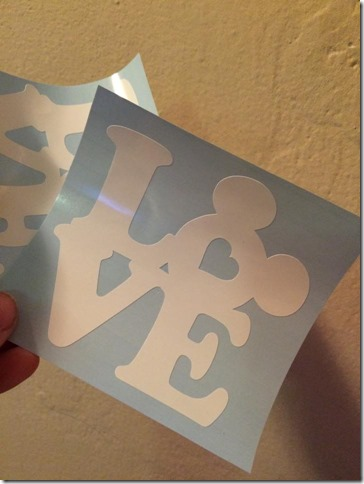 mickey love decal sticker