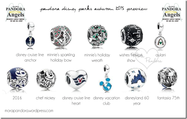 new disney park exclusive pandora charms 2019
