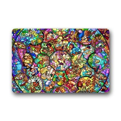 Disney Discovery Stained Glass Disney Doormat
