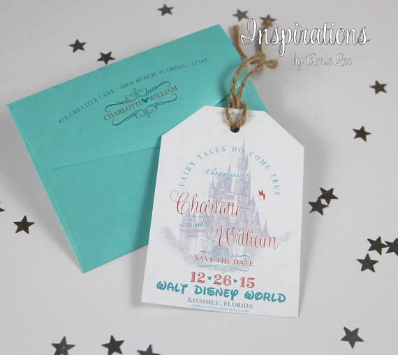 Fresh Disney Wedding Save The Dates | Wedding Tips and Inspiration AX31