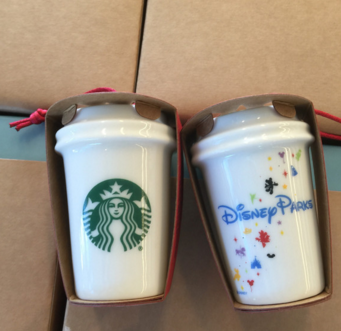 Disney Starbucks Christmas Tree Ornaments Now Available!