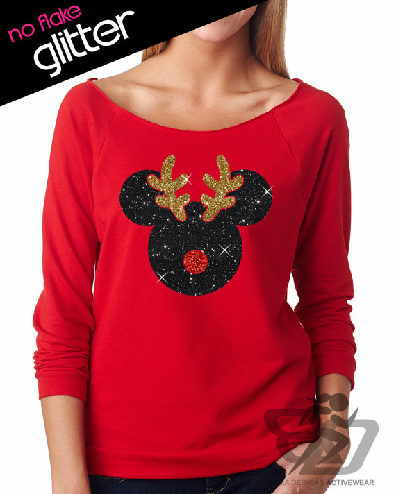 Glitter Holiday Shirts Perfect For Showing Your Disney ...