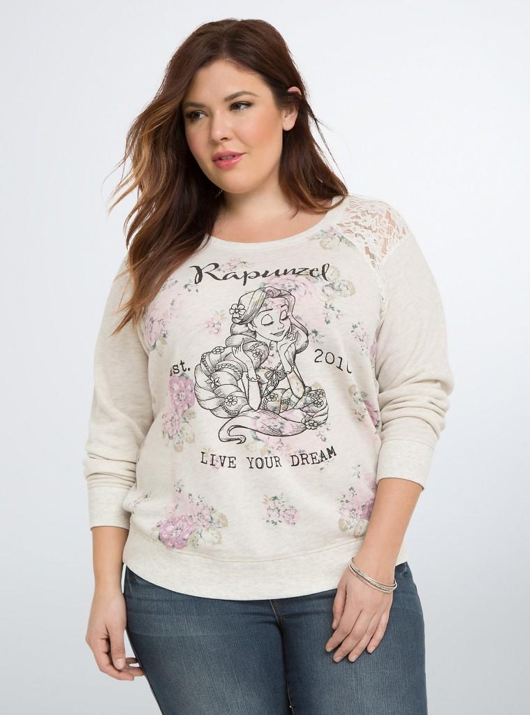 Disney Rapunzel Floral Sweatshirt