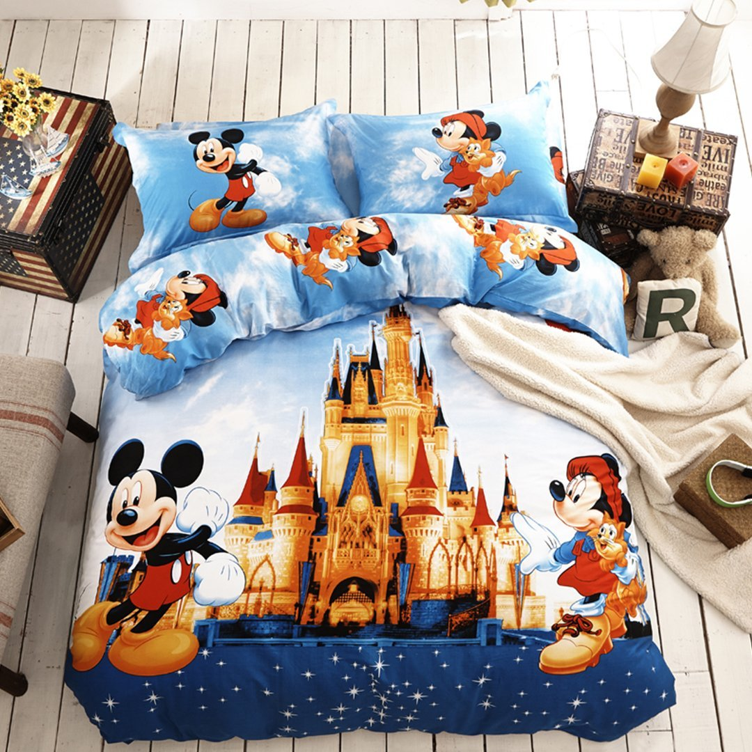 Disney Discovery Queen Size Mickey Castle Bedding