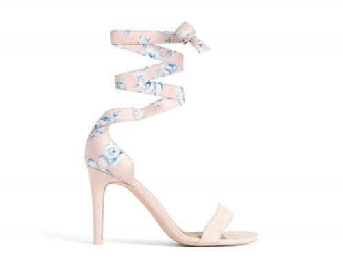 Heeled Sandal Floral