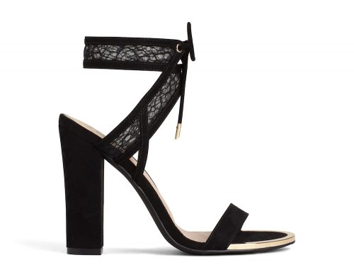 chunky heel black