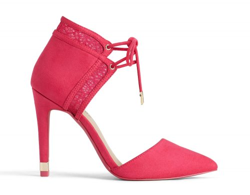 close toe heel pink