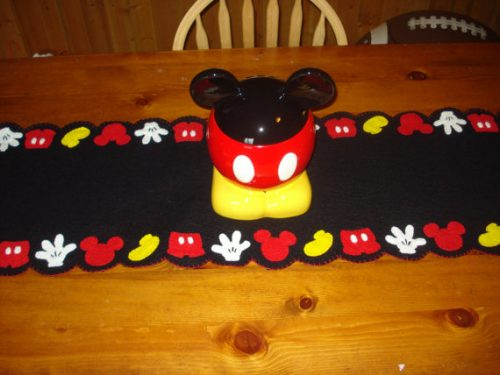 Mickey mouse table decor perfect for your disney kitchen for Mickey mouse kitchen accessories