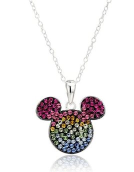 2016-08-04 10_29_04-Disney Mickey Mouse Rainbow Crystal Sterling Silver Women's Pendant Necklace, 18
