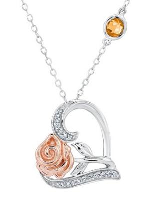 2016-08-28 04_01_46-Enchanted Disney Belle's Rose and Heart Diamond Pendant 1_10ctw _ Amazon.com