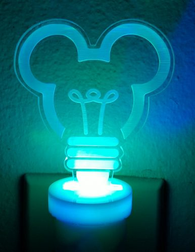 Mickey Mouse Night Light blue