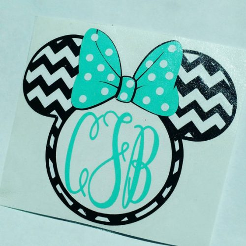 Minnie Mouse Decal blue