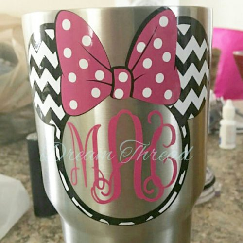 Minnie Mouse Decal pink