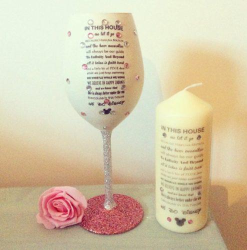 Wine Glass Candle Set