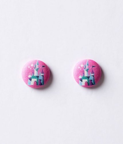 pink_princess_castle_round_post_earrings_1