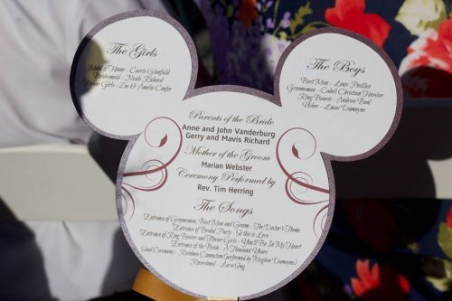 Mickey Mouse Shaped Programs For Your Disney Wedding!