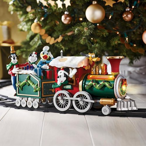 Disney discovery mickey mouse holiday train set for Disney mickey mouse motorized choo choo train with tracks