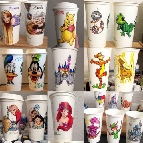 Start Your Day With A Personalized Hand Drawn Disney Cup