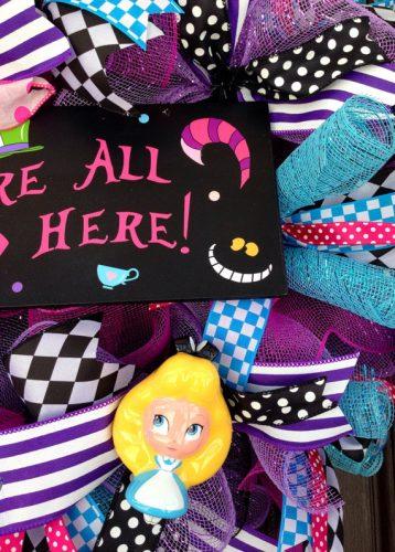 Alice in Wonderland wreath 2