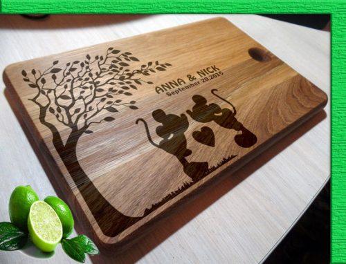 Disney cutting board wedding gift
