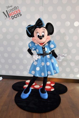 WEST HOLLYWOOD, CA - JANUARY 17: Global style icon Minnie Mouse at the Minnie Rocks the Dots celebration at the Andaz Hotel in West Hollywood on January 17, 2017. In celebration of National Polka Dot Day, fine art photographer Gray Malin unveiled his photo series with Minnie Mouse as his muse. (Photo by Lester Cohen/Getty Images for Disney Consumer Products and Interactive Media)