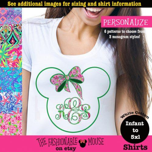 monogram Minnie Mouse