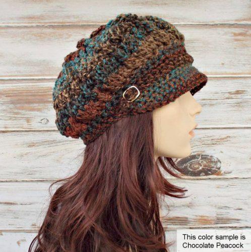 Newsboy cap crochet