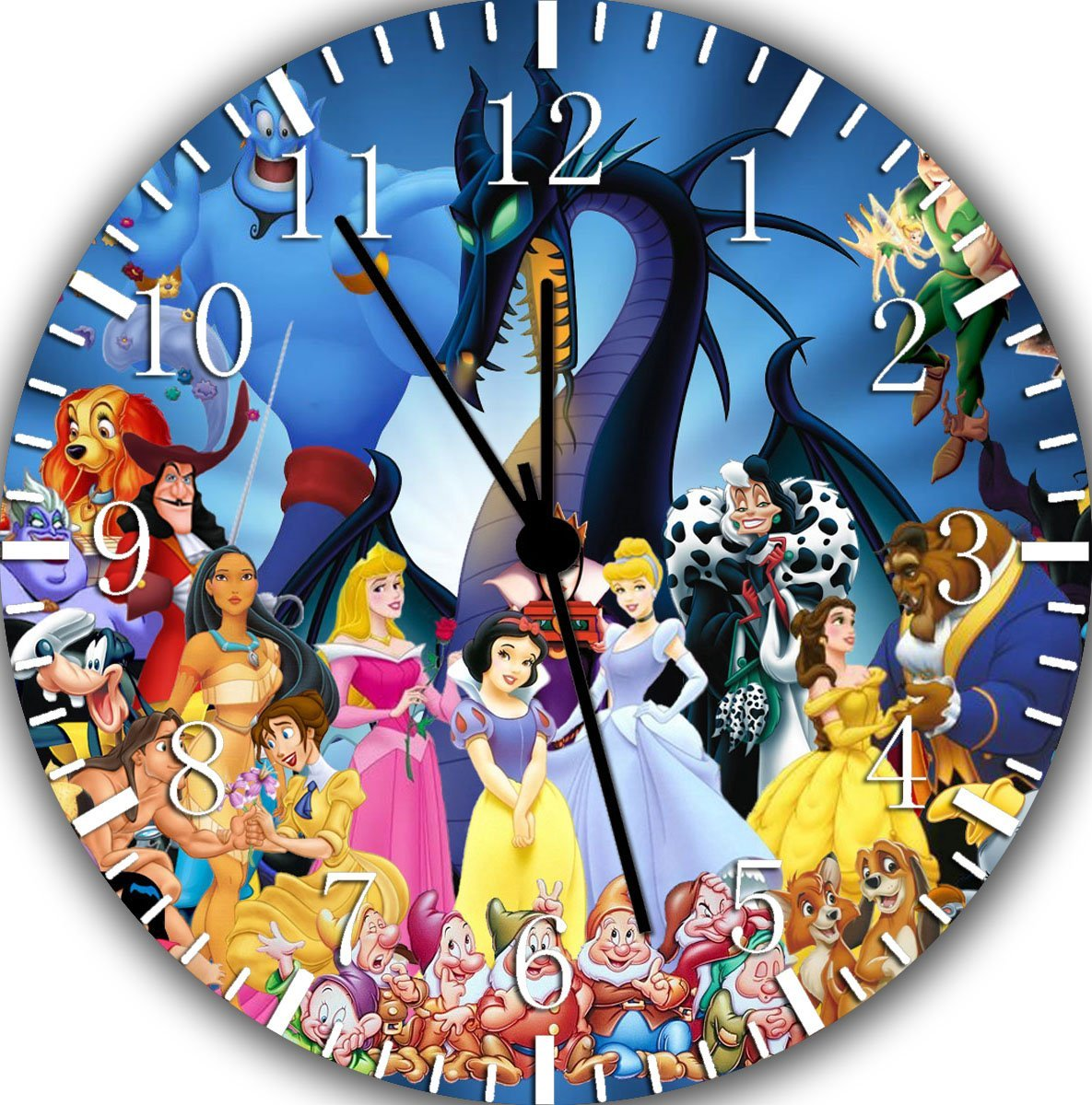 Disney wall clock amazon disney discovery disney character wall clock amipublicfo Image collections