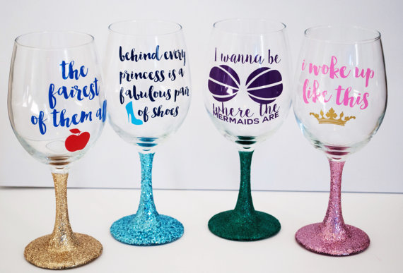 These Princess Wine Glasses Are Perfect For Girls Night