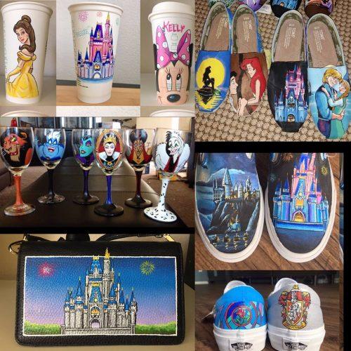 Hand painted Disney