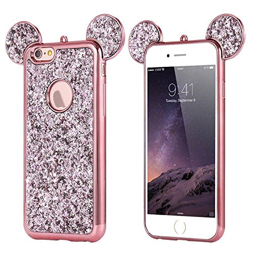 Disney Discovery Glitter Mickey Ears Case
