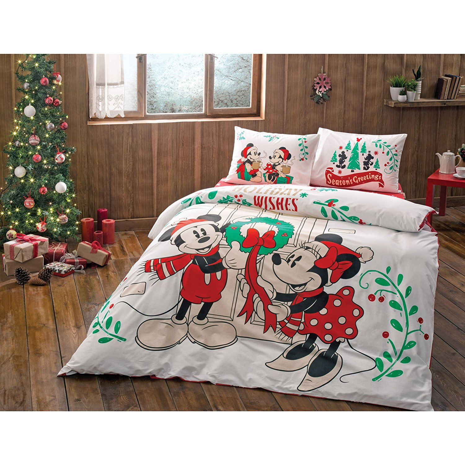 Disney Discovery Mickey And Minnie Holiday Queen Sized