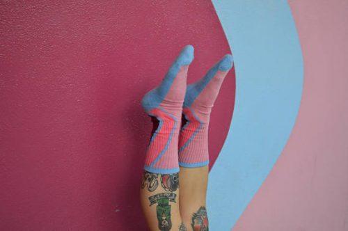 Bubblegum Wall Socks