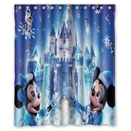 Disney Discovery Disney Holiday Castle Shower Curtain