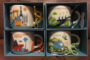 Starbucks Disney Parks Mugs Ornaments