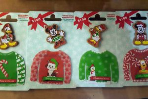 Ugly Sweater Disney Gift Card Pin