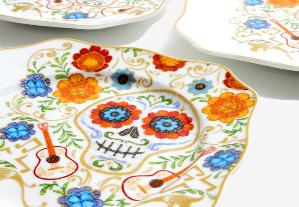 Disney Pixar Coco Floral Plate Set