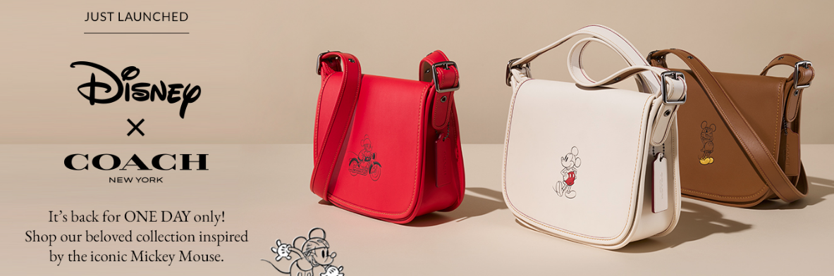 Mickey Mouse Coach Bags Available Today Only For A Quarter