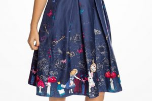 vintage styled Alice in Wonderland dress