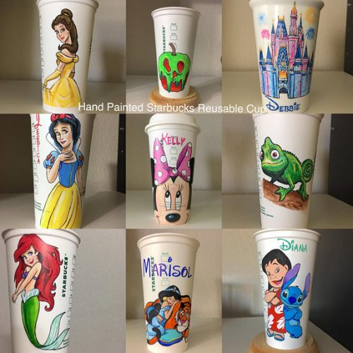 Hand Painted Reusable Starbucks Cups