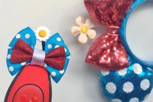 Retro Minnie MagicBand bow
