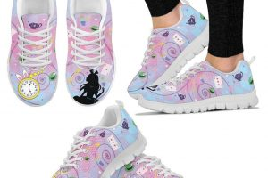 Alice in Wonderland sneakers and leggings